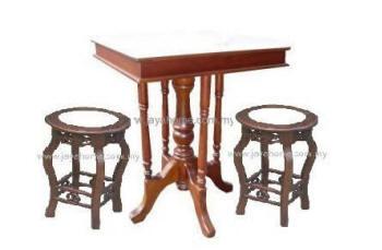Kopitiam Marble Table 天然云石餐桌 Kopitiam Chair Cafe Table Malaysia Cement Table Malaysia Cement Bench Malaysia 洋灰公园桌椅 Garden Table Meja Batu Kerusi Batu
